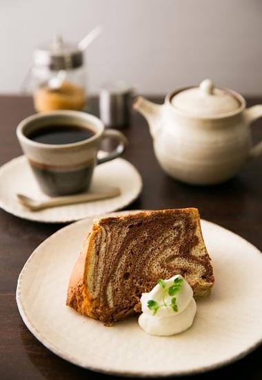 食珈茶菓酒すわんチョコマーブルのシフォンケーキ