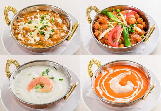 サイノ アジアンキッチンパニールマサラ・チャナマサラ・ブラウンカレー・バターブラウン