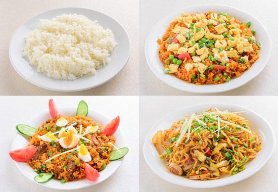サイノ アジアンキッチンプレーンライス・フライドライス・インド風チャーハン・ネパール風焼きそば