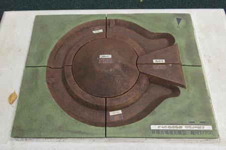 柊塚古墳歴史広場復元模型